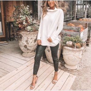 Free people ottoman slouchy sweater cream small
